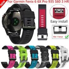 22 26Mm Quick Release Easyfit Riem Voor Garmin Fenix 6X 6 6S Pro 5 5X 5 S Plus 3HR Siliconen Band Voor Forerunner 945 Smart Watch