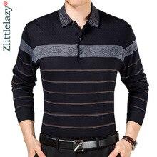 2020 Casual Lange Mouwen Bedrijvengids Mens Shirts Mannelijke Gestreepte Fashion Brand Polo Shirt Designer Mannen Tenis Polo Camisa Sociale 5158
