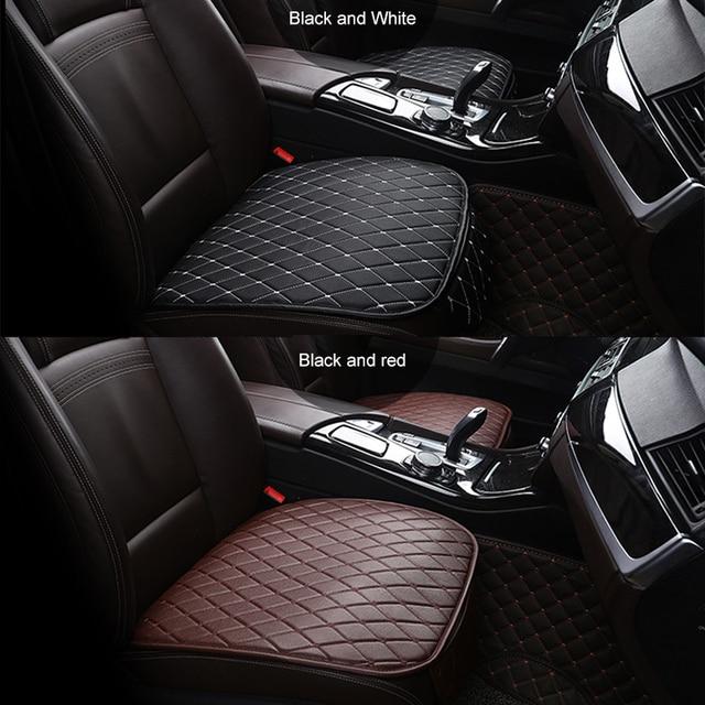 Universal Leder Auto Sitz Abdeckung Set Vorn Hinten Rücksitz Kissen Auto Auto Stuhl Sitze Protector Mat Pad Innen Zubehör