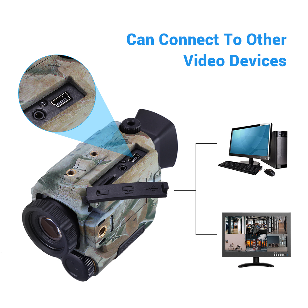 BOBLOV P4 5X Digital Zoom Night Vision Monocular Goggle Hunting Vision Monocular 200M Infrared Camera Function For Hunting