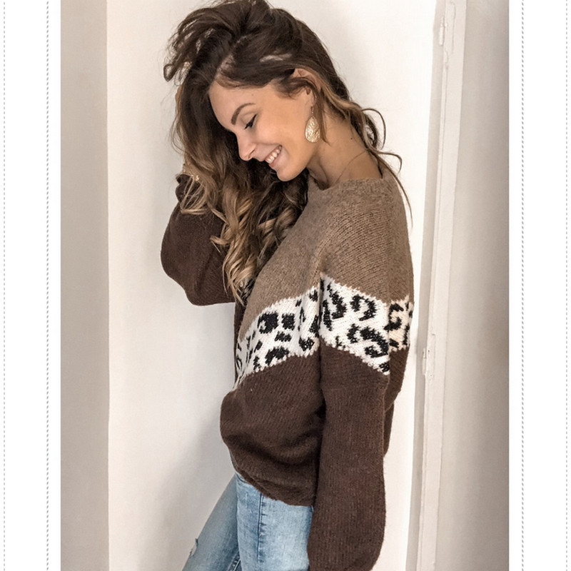 Winter Womens Sweater Long Sleeve Striped Knitted Sweater Jumper Loose Batwing Sleeve Crew Neck Knitwear Winter Outwear Tops Hot