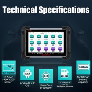 Image 4 - Autel escáner MaxiCOM MK908 OBD2 para coche, herramienta de diagnóstico OBDII de nivel OE, programador de llaves de Control bidireccional, lector de código PK MK808