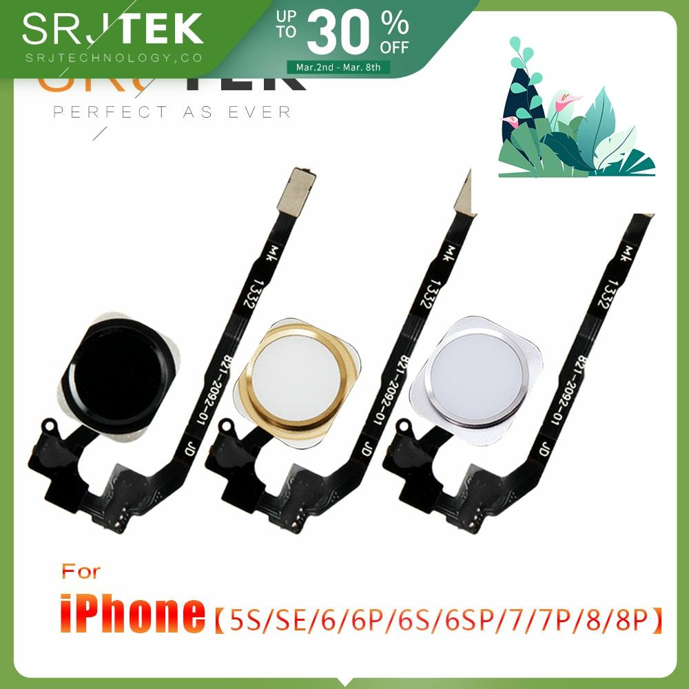 Home Button Flex Cable For IPhone 5 S 5S SE 6 6Plus 6s Plus 7 7Plus 7P Home Return Button Flex Cable Assembly