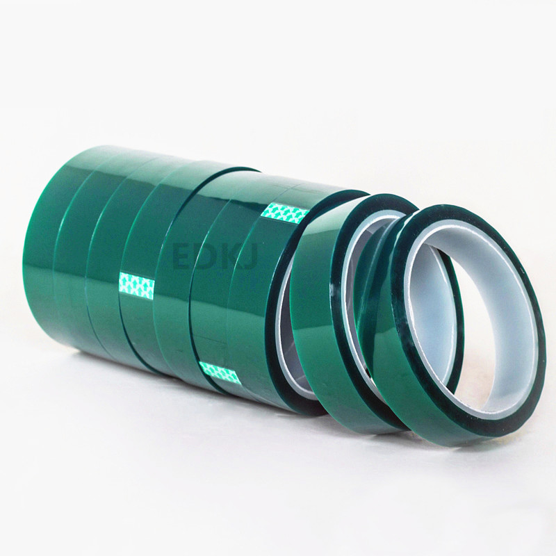 1pcs 5/8/10/12/15/20/25MM X 33M Green  High Temperature Resistant Kapton Tape Polyimide For Electric Task/grills/powder Coating