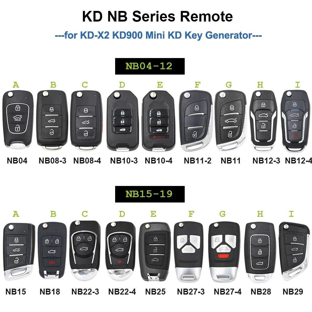 KEYDIY 5 шт. NB серии многофункциональный пульт дистанционного Fob NB04 NB11 NB15 NB18 NB29 NB27 NB18 для KD900 URG200 KD-X2 все функции, указанные в одно касание