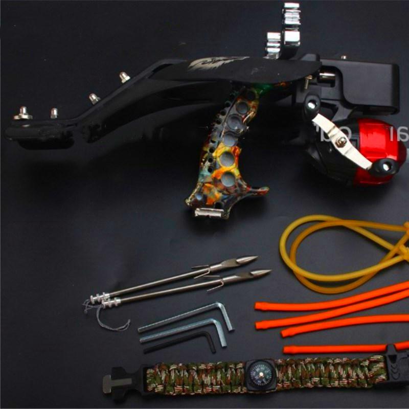 Hunting Powerful Fishing Slingshot G5 Estilingue Crossbow Bolts Laser Slingshot Catapult Stainless Steel Compound Crossbow