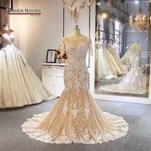 2019 Mermaid wedding dress customer order color beach style bridal dress
