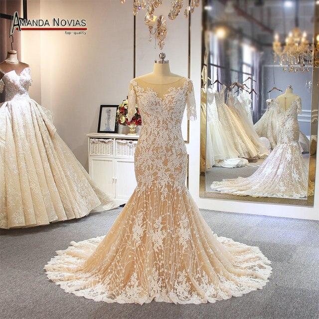 2019 abito da sposa Mermaid ordine del cliente di colore stile della spiaggia di modo del vestito