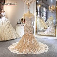 Robe de mariée style sirène, couleur pour les commandes des clients, robe de mariée, modèle de plage, modèle 2019
