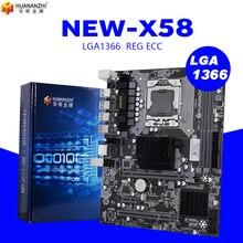 Placa mãe huananzhi x58 lga 1366, suporte ecc reg memória do servidor e processador xeon suporte lga 1366 cpu