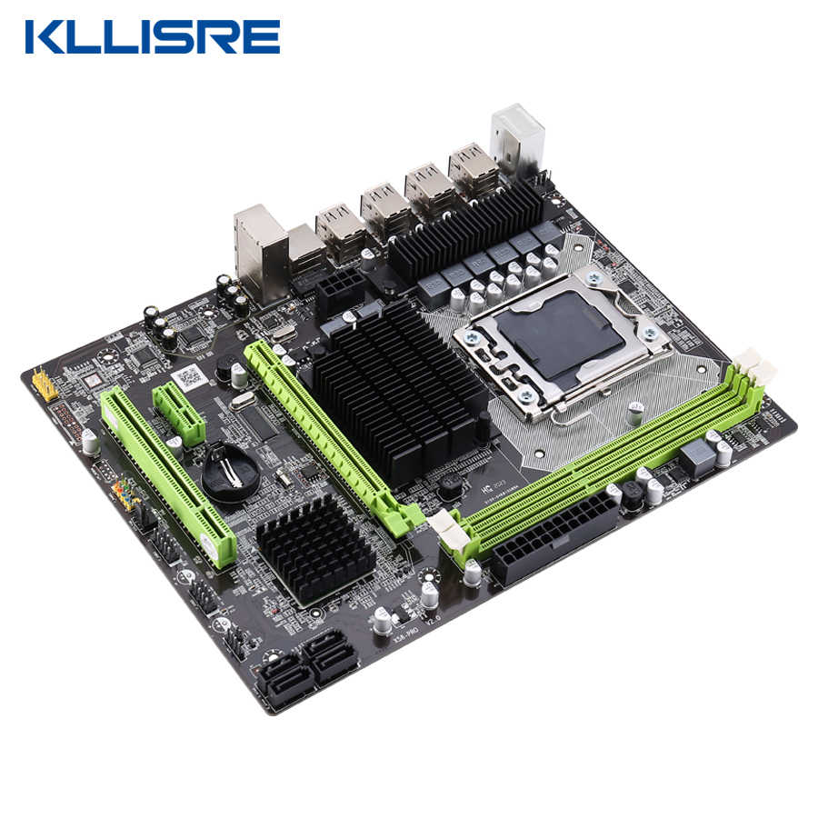Placa mãe kllisre lga 1366, x58 lga placa mãe suporte ecc reg memória do servidor e processador xeon