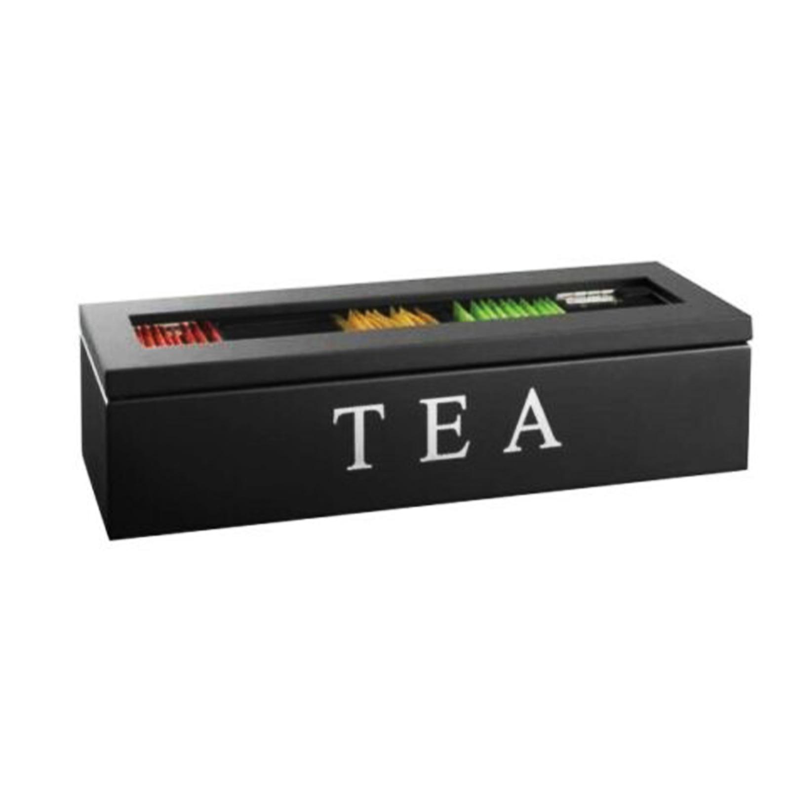 2020 деревянная коробка для чая контейнер для хранения чайных коробок квадратный Подарочный чехол прозрачная верхняя крышка коробка для хранения ювелирных изделий Коробка для хранения в доме|Чайница|   | АлиЭкспресс