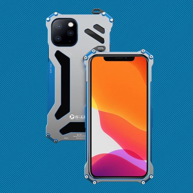 יוקרה מתכת שריון מקרה עבור iPhone 12 מקס 12 פרו 11 פרו מקסימום להגן על כיסוי עבור iPhone 11ProMax קשה עמיד הלם Coque