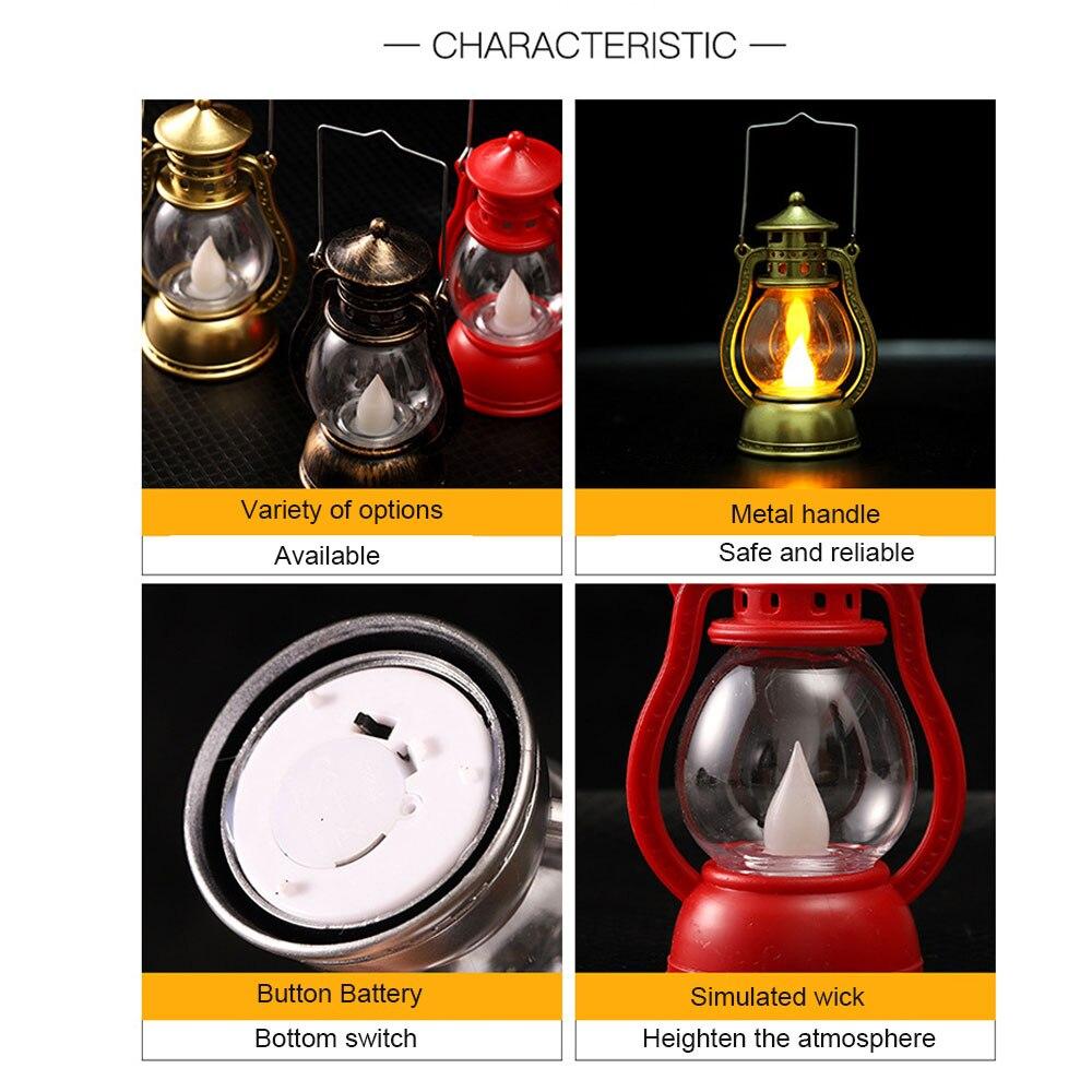 Подвесная лампа на Хэллоуин Светодиодный фонарь Мерцающая электронная беспламенная винтажная портативная лампа креативный дом с привидениями