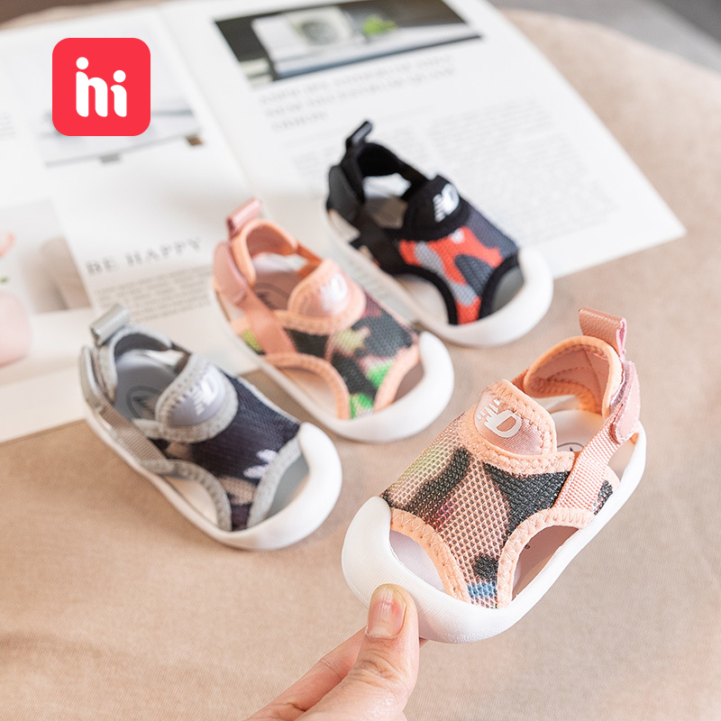 Baby Cool Shoes 1-3-Year-Old Girls Boys Babys Shoes Summer Soft Soles Mesh Breathable Shoes Small Children Toddler Shoes