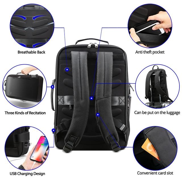 Business Travel Travel bags USB Charging Laptop Bagpack