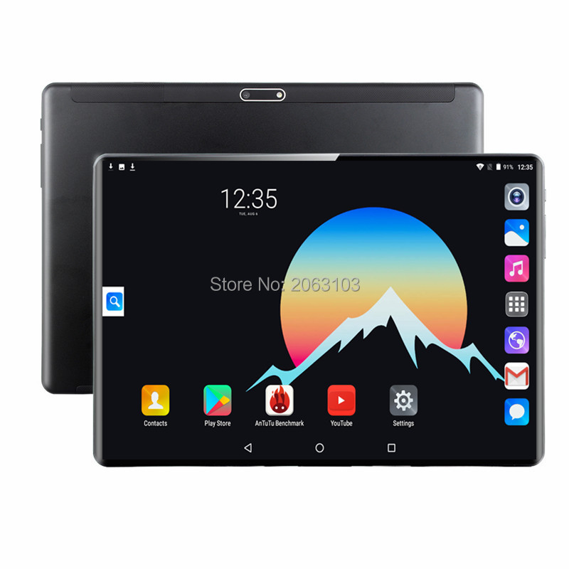 Free Shipping 4G LTE 10 Inch Tablet Pc Android 9.0 8 Core 6GB+64GB 1920*1200 2.5D Screen Dual SIM Card WIFI Smart Tablets 10.1