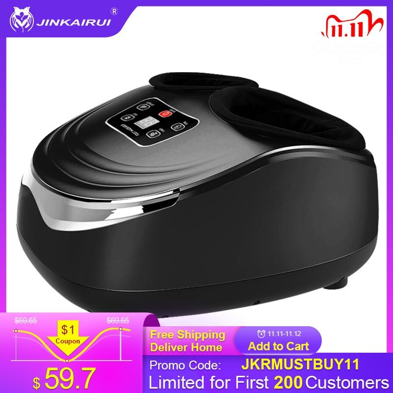 Jinkairui EU Plug Electric Antistress Foot Massager Vibrator Massage Machine Infrared Heating Therapy Health Care Device    - AliExpress