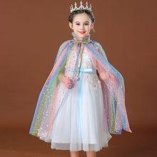 Benli белый костюм принцессы для вечеринки девочек Тюлевая накидка