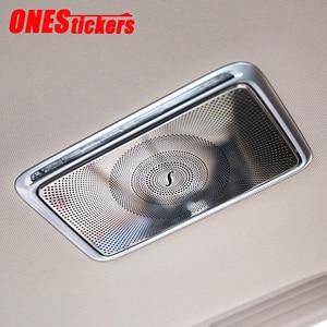 Image 1 - Dla Mercedes Benz C E S GLC klasa W205 W213 W222 X253 akcesoria samochodowe ze stali nierdzewnej tylny rząd lustro do makijażu pokrywa rama wykończeniowa