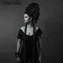 Jewelry Necklace Rubber-Rope YDBZ Hyperbole-Collar Long-Chains Punk Women Pendant