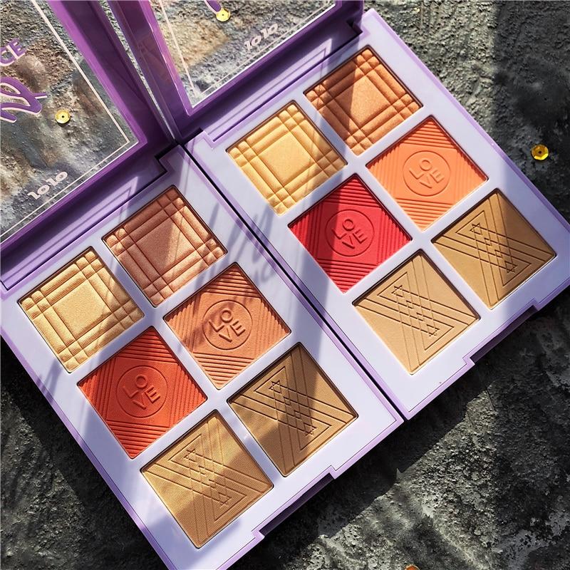 bochecha blush contorno maquiagem paleta sombra paleta