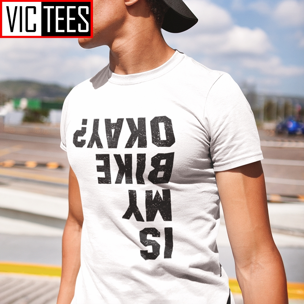 Funny Cycling Bicycle Motorcycle Biker  Men T Shirts Funny Purified Cotton Short Sleeve Tees Round Neck T-Shirt Clothes