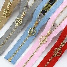 Gold Zipper Sewing-Accessories Garment-Decor Open-End Auto-Lock Meetee Metal DIY 40cm