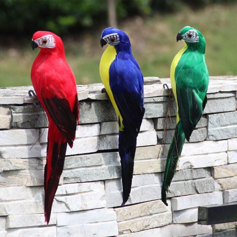 Real Life NEW Indoor or Outdoor Lifelike Garden Ornament Red Macaw Parrot