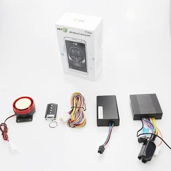 remote engine start stop lock unlock moto gps tracker with alarm function
