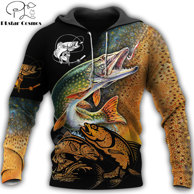 Beautiful Pike Fishing hoodie unisex