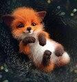 Nette Tiere Brosche DIY Wolle Nadel Filzen Material Paket Fuchs Puppe Wollfilz Handwerk Sack Gesetzt Handwerk Fuchs Kit Nicht fertig