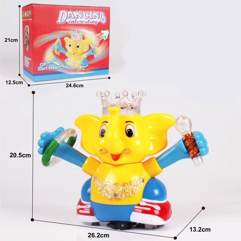 Universal Wheel Light Music Electric Elephant Children Electric Cartoon Toy Animals Men And Women Gift