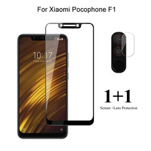 For Xiaomi Pocophone F1 Front Screen Protector Protective Tempered Glass & Camera Lens Film For Xiaomi Pocophone F1