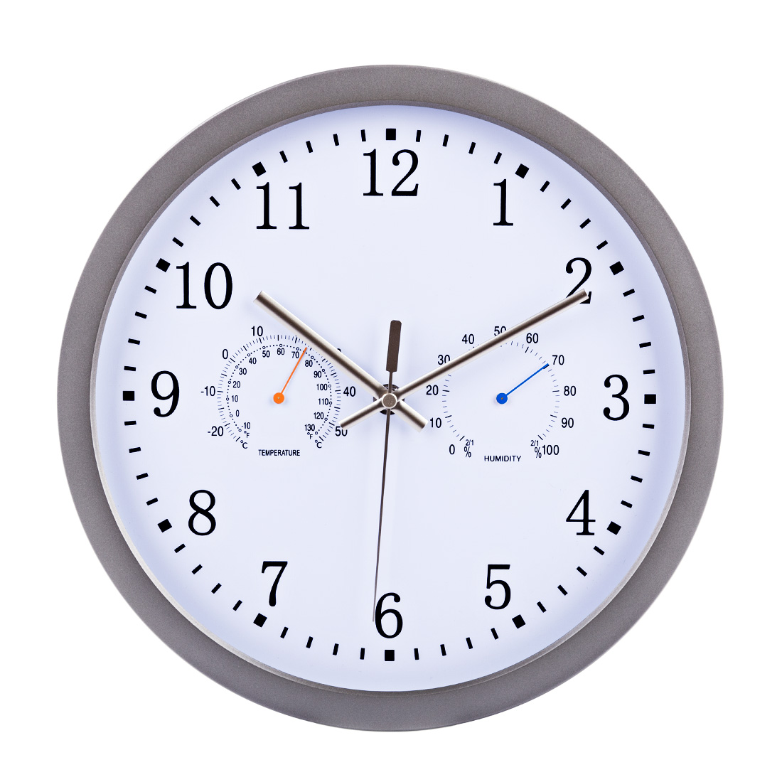 12-Inch Multifunction Hygrothermograph Silent Radio Waves Wall Clock With Temperature Humidity Display New Arrival Hanging Clock