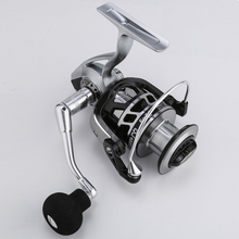 Fishing Reel 13+1BB 5.0:1 Max Drag Carp Spinning Reel 4000 5000 Aluminium Spool Left/Right Hand Spinning Wheel Fishing Tackle 14 1bb double spool fishing reels metal spinning carp trout bass reel spare line cup left right hand freshwater saltwater wheel