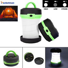 Portable Camping Light Tent Light Multifunction Retractable Camping Lamp Lantern LED Flashlight Pocket Torch AA Battery Outdoor(China)