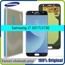 Tela amoled original para samsung galaxy, display lcd, touch screen, j730, j730f, para samsung j7, pro substituição de