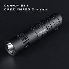 Comboio s11 xhp50.2 18w 2400lm 3a saída brilho led lanterna tática mini tocha edc 18650 para acampamento lanterna bolso