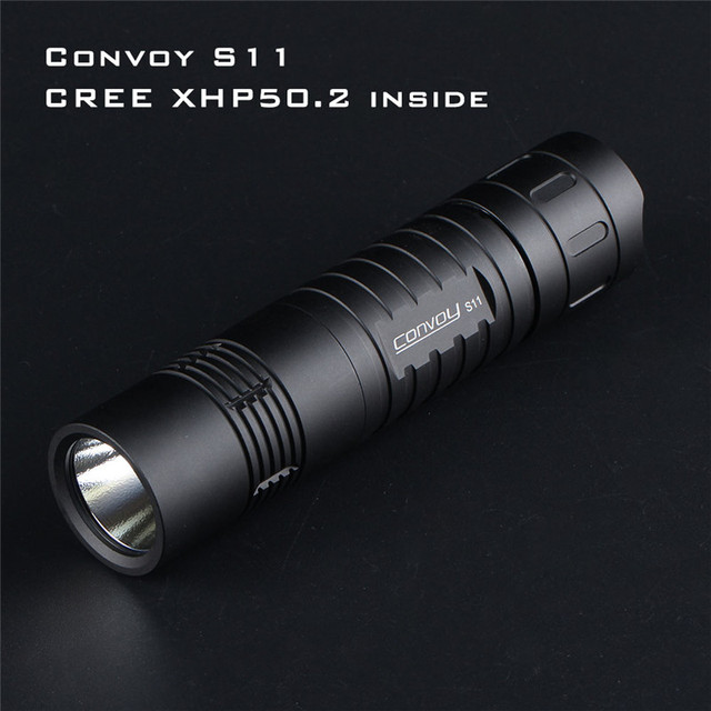 Convoy S11 XHP50.2 18W 2400lm 3A Output Brightness LED Tactical Flashlight Mini Torch EDC 18650 for Camping Torch Lantern Pocket