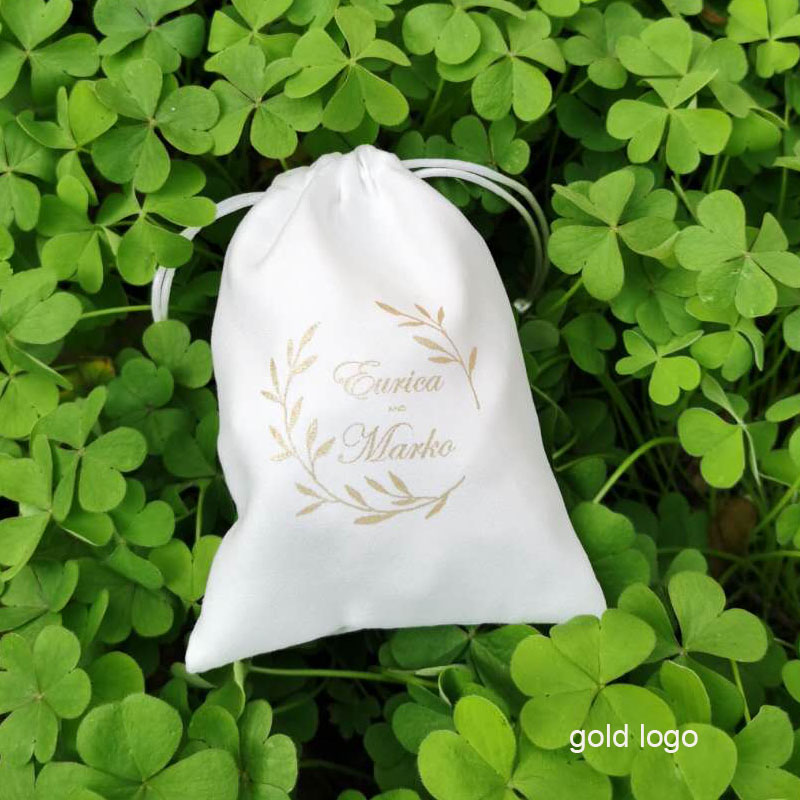 White Flannel Jewelry Gift Bag 8x10cm(3x4inch) 9x12cm 10x15cm(4x6inch)  Pack Of 50 Makeup Velvet Drawstring Pouch