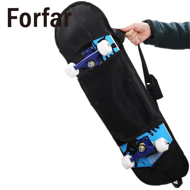 Portable Skateboard Bag Adult Child Skateboard Sports Backpack Non Woven Fabric Black Carry Bag Longboard Skate Protection Cover