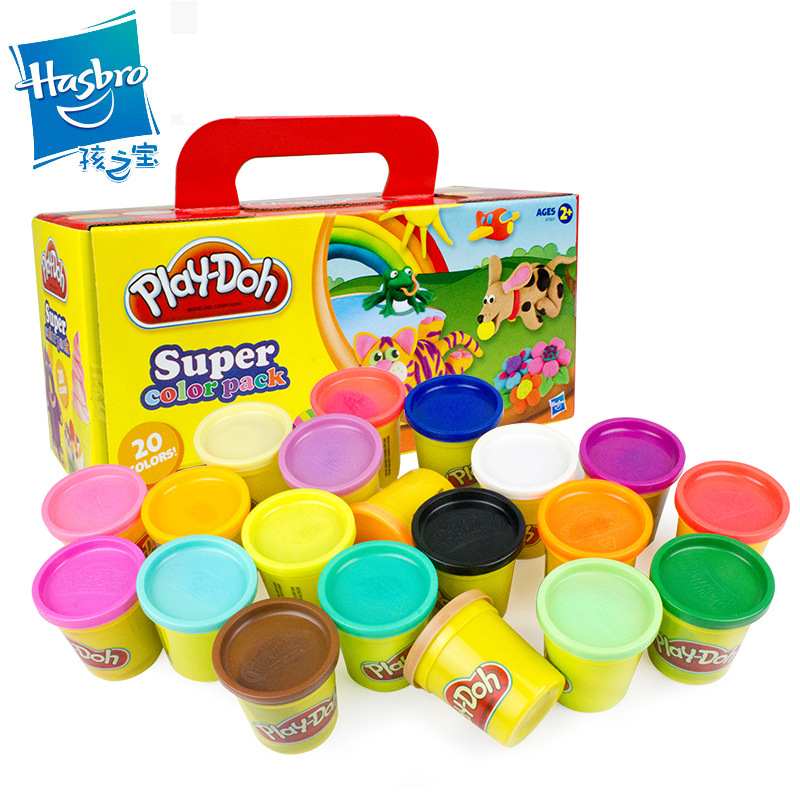 Hasbro Play Doh 20 Color Burst Colorful Fluffy Floam Slime  Squishy Scented Stress Relief No Borax Kids Sludge Cotton Slime Toys