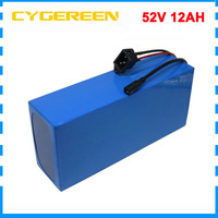 750W 52V lithium ion battery 14S 52 V 12AH Electric bike bicycle bateria 52Volt for bafang motor with BMS 58.8V 2A Charger