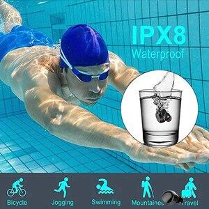 Image 2 - 수영 용 방수 이어폰 블루투스 무선 이어폰 이어폰 형 이어폰 딥베이스 스테레오 스포츠 헤드셋 귀리 형 이어폰