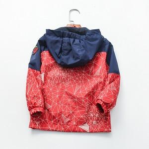 Image 4 - Детская хлопковая куртка с геометрическим принтом, 90 160 см