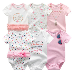 Image 2 - 2020 Newest 6PCS/lot Baby Girl Clothe Roupa de bebes Baby Boy Clothes Unicorn Baby Clothing Sets Rompers Newborn Cotton 0 12M