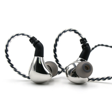 Fone de ouvido intra auricular dinâmico do diafragma do carbono bl03 hifi 10mm iem com 0.78mm 2pin cabo destacável