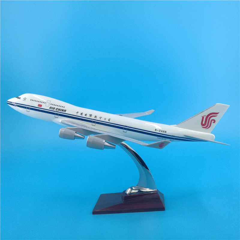 40cm Air China Boeing 747 Airplane Model Diecast China International B747 Aircraft Model Scale Kit Airplane Gift Decoration Toys