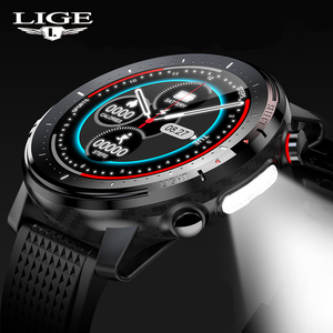 Image 1 - LIGE 2021 IP68 Waterproof Smart Watch Men ECG Heart Rate Blood Pressure Monitor LED Flashlight 1.3 Full Touch Screen smartwatch